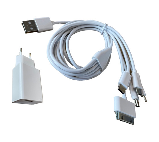 Cordon d''alimentation 5 standards prise USB ou secteur